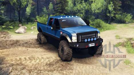 Ford F-350 Super Duty 6.8 2008 v0.1.0 blue para Spin Tires