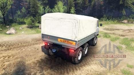 UAZ-3909 6x6 para Spin Tires