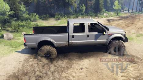Ford F-350 Super Duty 6.8 2008 v0.1.0 silver para Spin Tires