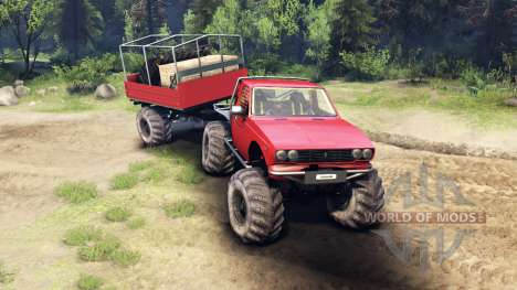 Toyota Hilux Truggy v1.0 wheels1 para Spin Tires