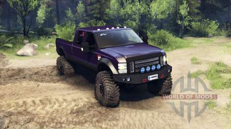 Ford F-350 Super Duty 6.8 2008 v0.1.0 purple para Spin Tires