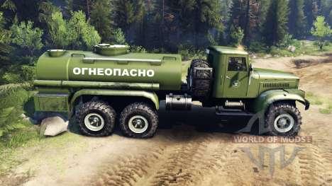 KrAZ-255B CA 8.5 Inflamables v2.7 para Spin Tires