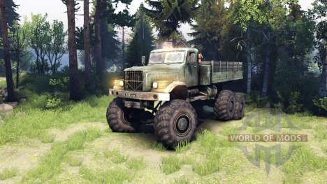 Kraz-255 6x6 para Spin Tires