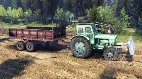 Tractor T-IM v1.1 verde para Spin Tires
