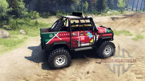 UAZ hunter juicio para Spin Tires