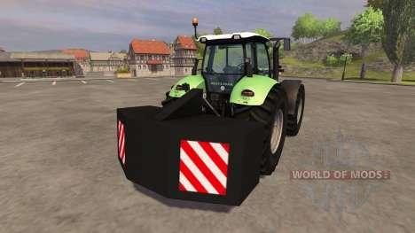 Trasera contrapeso para Farming Simulator 2013