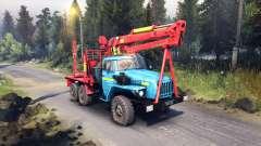 Rojo-azul para colorear en el Ural-4320