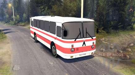 ЛАЗ-699Р rayas rojas para Spin Tires