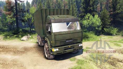 KamAZ GAS 6x6 para Spin Tires