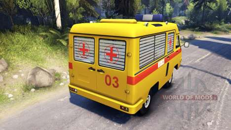 UAZ 2925 COCHES para Spin Tires
