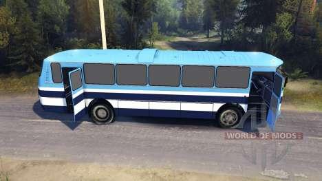 ЛАЗ-699Р rayas azules para Spin Tires