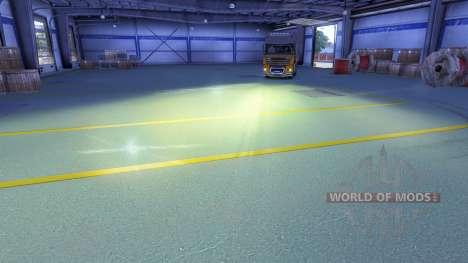 El amarillo de la luz del faro delantero para Euro Truck Simulator 2