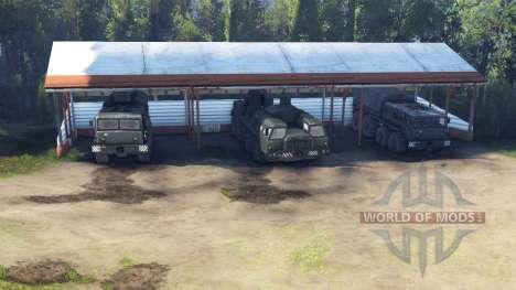 Plaza de garaje en lugar de un garaje para Spin Tires