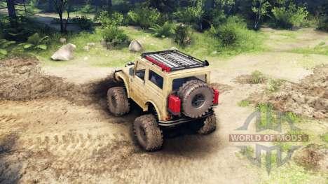 Suzuki Samurai LJ880 dirty desert tan para Spin Tires