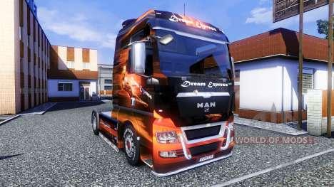 Color-Dream Express - camiones MAN TGX para Euro Truck Simulator 2