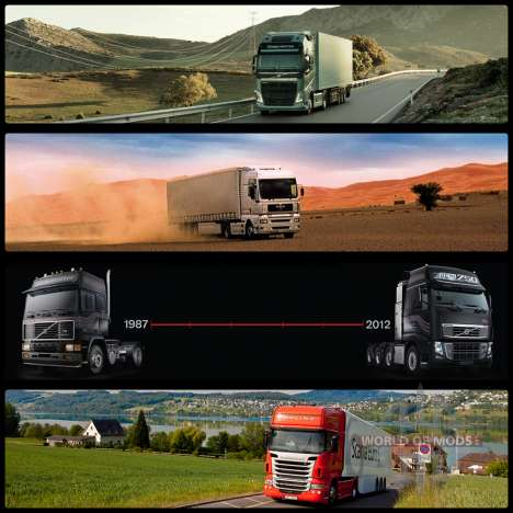 Pantallas de inicio para Euro Truck Simulator 2