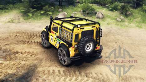 Land Rover Defender 90 v2.0 para Spin Tires