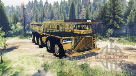 Camión de minería de datos 10x10 para Spin Tires