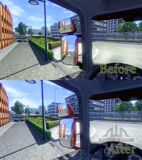 Espejos para Scania para Euro Truck Simulator 2