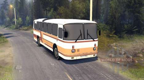 ЛАЗ-699Р de color naranja-marrón a rayas para Spin Tires