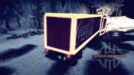 KamAZ 54112 comer con guirnaldas de Navidad para Spin Tires