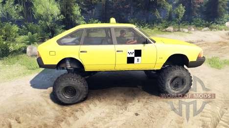 AZLK Moskvich 2141 taxi monstruo v1.1 para Spin Tires