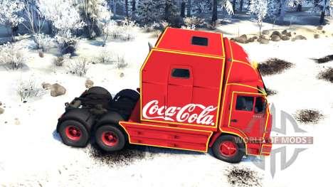 KamAZ 54112 comer Navidad sin guirnaldas para Spin Tires