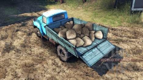 La carga de sandías y piedras para Spin Tires
