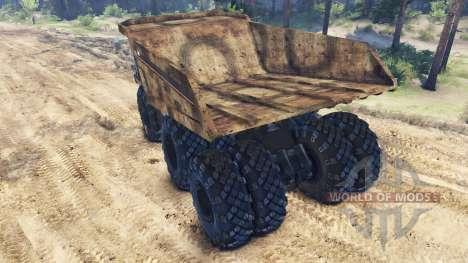 Volcado de camiones 6x6 para Spin Tires