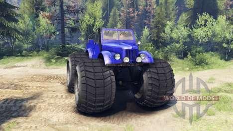 ГАЗ-69М Monstruo Azul para Spin Tires