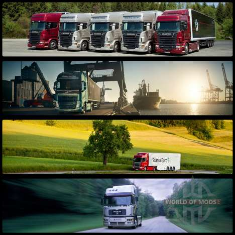 Inicio pantallas v2 para Euro Truck Simulator 2