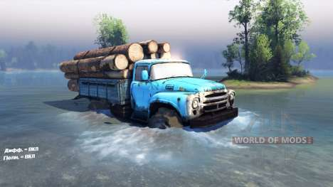 ZIL 130 4x4 para Spin Tires
