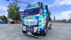 Color-Rockstar Energy Drink - en el tractor Volv