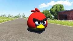 Pájaro rojo (rojo) Angly de Aves