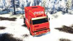KamAZ 54112 comer Navidad sin guirnaldas