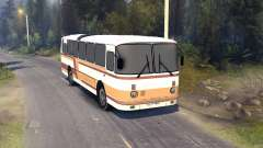 ЛАЗ-699Р de color naranja-marrón a rayas