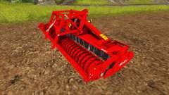 La combinación con una sembradora de cultivador