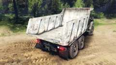 El cuerpo del camión en los Urales