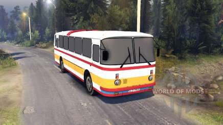 ЛАЗ-699Р de color rojo-naranja rayas para Spin Tires