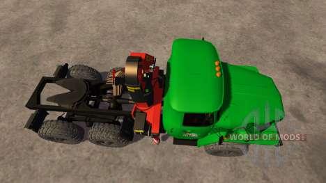 Ural-5557 grúa verde para Farming Simulator 2013