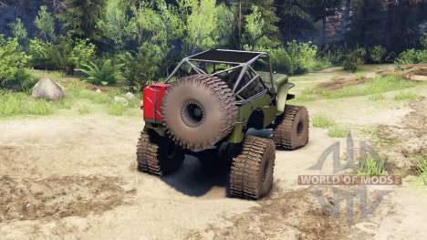 Jeep Willys green para Spin Tires
