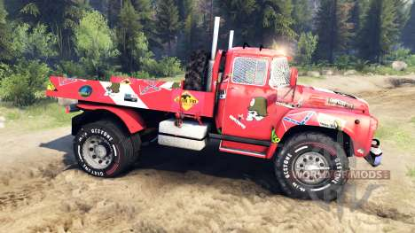 ZIL-130 de autocross 4x4 para Spin Tires