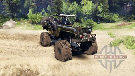 Jeep Willys camo para Spin Tires