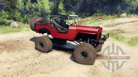 Jeep Willys red para Spin Tires