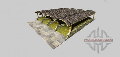 Ensilaje de boxes con un dosel v3.2 para Farming Simulator 2013