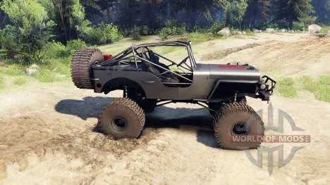 Jeep Willys black para Spin Tires