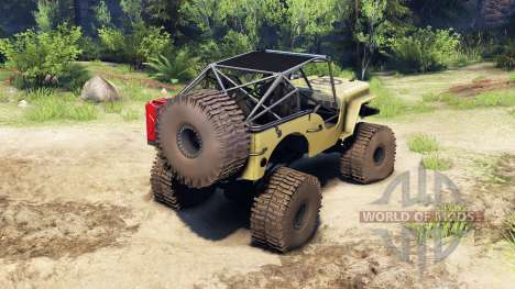 Jeep Willys tan para Spin Tires