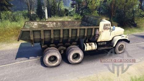 Kraz-256 para Spin Tires