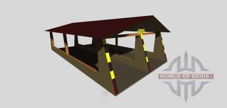 Ensilaje de boxes con un dosel v2.0 para Farming Simulator 2013