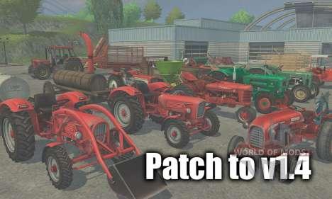Parche para la versión 1.4 para Farming Simulator 2013